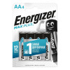 Energizer MAX PLUS LR6/E91 AA FSB4 (lR6/4BL MAX PLUS)  (4 шт. в уп-ке)