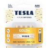 Tesla GOLD AAA+4ks GOLD Alkaline baterie AAA (LR03, минипальчиковая, блистер) блистер 4 шт)