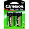 Camelion  R20  BL-2 (R20P-BP2G, батарейка,1.5В)  (2 шт. в уп-ке)