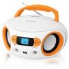 Аудиомагнитола USB BBK BS15BT (W/O) orange (4Вт, Bluetooth, USB, FM, AUX, Выход на наушники) (BS15BT (W/O))