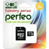 Micro SecureDigital 8Gb Perfeo PF8GMCSH10AES {MicroSDHC Class 10, SD adapter}